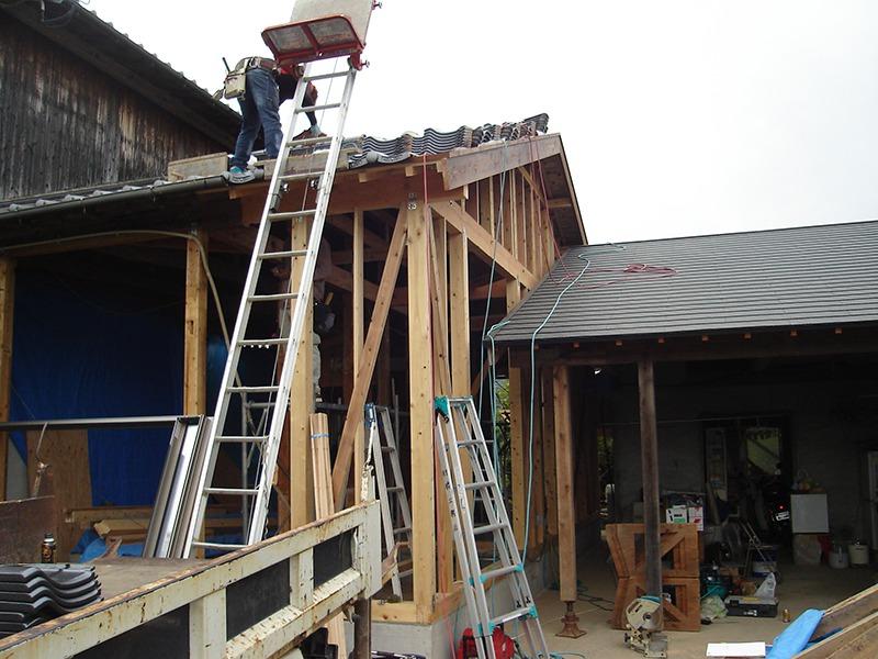 増改築の施工中