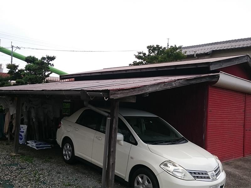 施工前 車庫