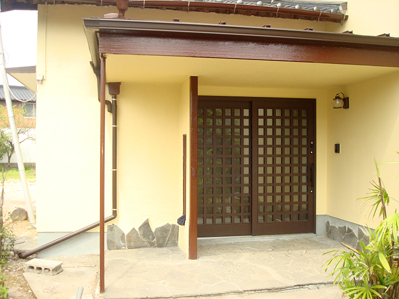 施工後 玄関入り口