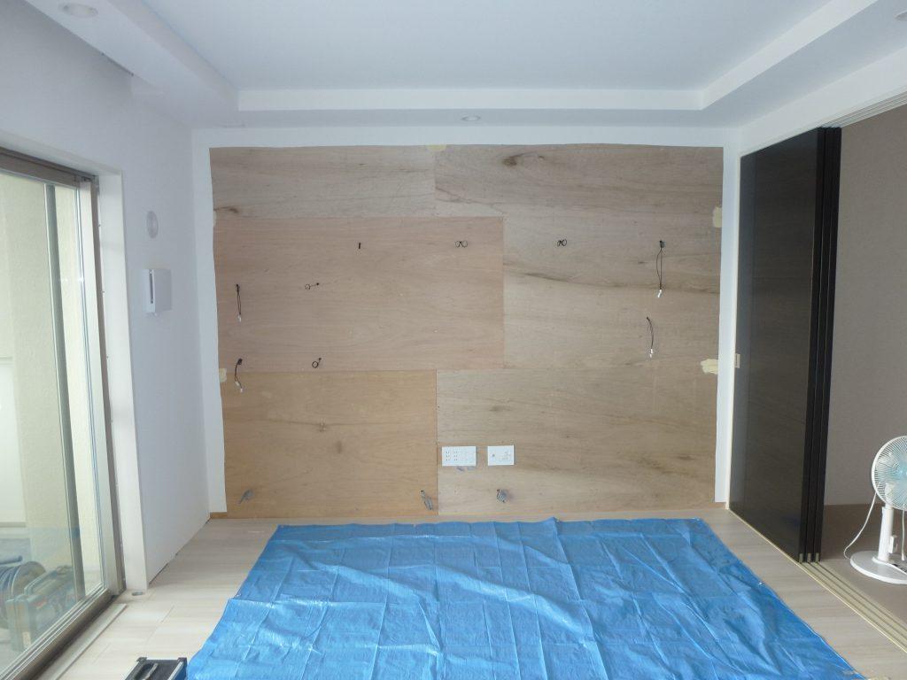 施工前 壁面収納